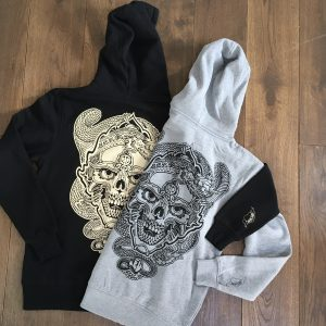 Skull and Dragon black Hoody