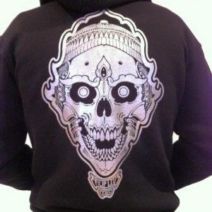 Silver Skull Hoody