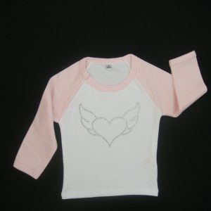 Heart Diamante Baseball Tee